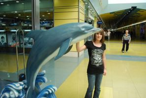 Me with a dolphin by oOstaceyOo