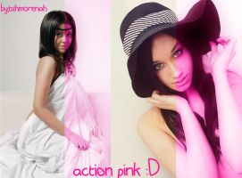 Action pink by CarlaTuhmorenah
