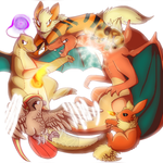 My Fire Red Team by SiLvER02Kittin