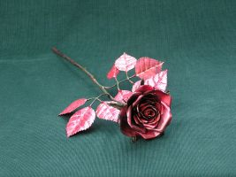 red copper rose by knivesandroses