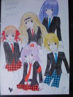 Shugo Chara Guardians Sitting by tetashi