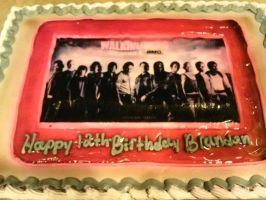 The Walking Dead Birthday Cake by SupernaturalSpirit15