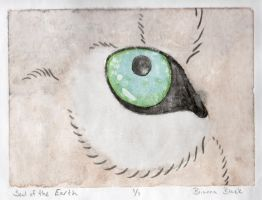 Soul of the Earth :: Mono Print by lucidcoyote
