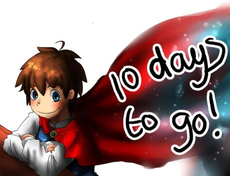 Day 1- 10 days to go! by Fragments-of-Hearts