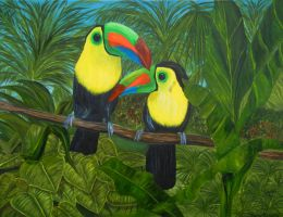 Toucans by artbysherry