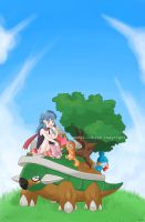 Picnic on Torterra by GothicIchigo