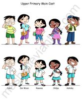 Primary School Characters by mashi