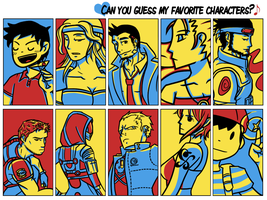 Favorite Characters Meme by euthanasian