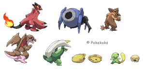 Some sprites... by Pokekoks