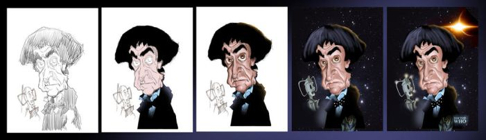 Dr Who - Patrick Troughton Process by Steveroberts