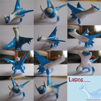 Super Sculpey latios by GasMaskMonster