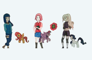 Naruto and My Little Pony by futuremoon