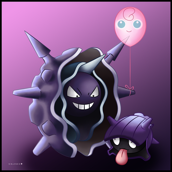 Shellder and Cloyster by Ninjendo