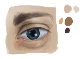 Realistic eye practice by GaussianCat