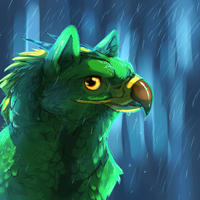 Singing in the rain by Elzux