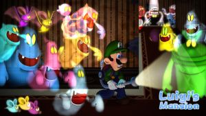 Luigi stalked by Ghosts by GEO-GIMP