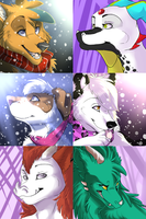 Fa Icon commission batch. by Terryburr