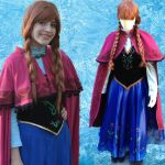 Disney Movie Frozen Cosplay Anna Outfit Costumes by Jessical1