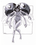 30-Day Monster Girl Challenge 13 - Insect Girl by Jaebird88