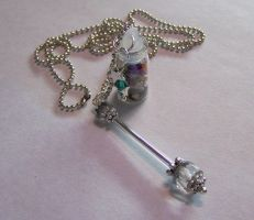 Faery Wand with Gemstones by mymysticgems