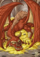 Smaug, the Magnificent by Sephiramy