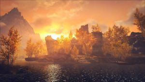 Skyrim Sunset II by Aenea-Jones