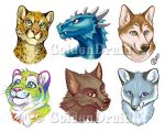 Pre-made Badges Set 2 by GoldenDruid