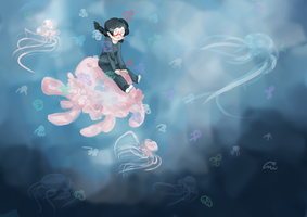 Tsukimi, the great jelly wrangler. by animepanda94