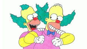 Simpsons Drawing #40 - Homie the Clown by SIMPSONSDRAWER