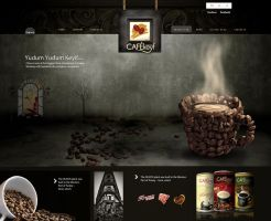 Cafekeyf Website Concept by grafiket