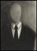Oil pastel: Slenderman by Cageyshick05