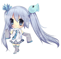 Snow Miku ( PVZ ) by natto-nguyen