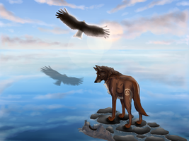 Shadow of the eagle by LumosTheWolf