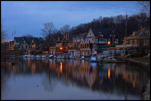 Boathouse Row 2.20.11 - 2 by ryangallagherart