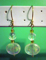 Crystal Glass Drop Earrings by BloodRed-Orchid