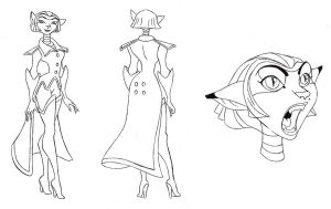Captain Amelia Model Sheet by MrSeyker