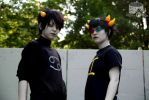 Karkat and Sollux: Be cool by xRedxPiratex