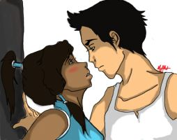 korra and mako by CupCakePandemic