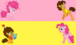 Cheese and Pinkie - Wallpaper by Sky-Note