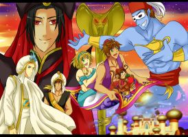 SBW Day 1 and 2 : Aladdin and friends by pink-crest