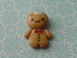 Kawaii Clay Gingerbread Man by CraftyOlivia