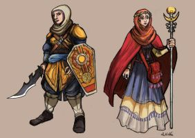 Nafisa and Nuha - Islamic Heroines - set 01 by TheLivingShadow