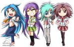 School uniform chibis by JinZhan