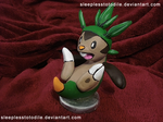 Chespin Sculpt by SleeplessTotodile