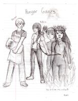 Hunger Games Sketches by WingedLioness