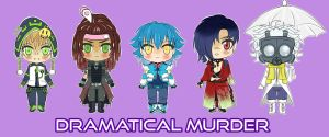 Dramatical Murder Chibi Group by BlackRoseMikage