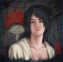 Uchiha Sasuke semi-realist by takemina