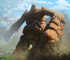 Clay Golem Clash by Adzerak
