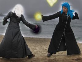 Saix vs. Riku by Ruet-Beer