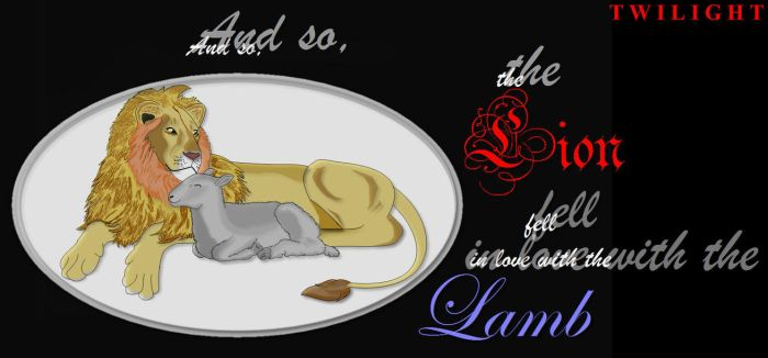 The Lion and the Lamb by DragonAlchemist63
